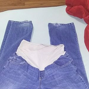 Old Navy bootcut maternity jeans.